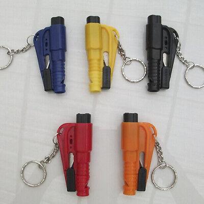 Car Emergency Safety 3in1 Hammer Belt Window Breaker Auto Key Chain Escape Tool