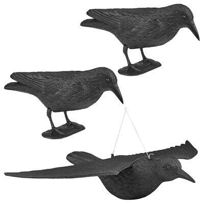 3x WELLGRO® Vogelschreck Krähe Rabe Vogelscheuche Taubenschreck Taubenabwehr NEU