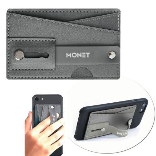 Monet Slim Wallet Grip Kickstand STEEL Gray Smartphones Phone Card Grip Accessor