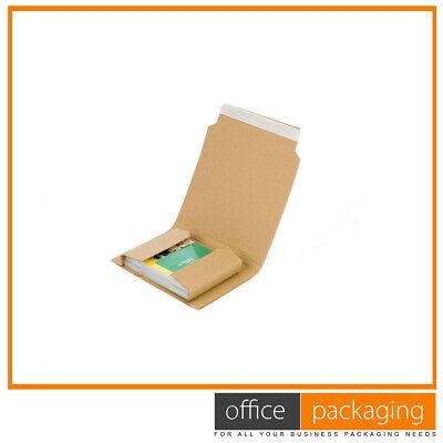 Bukwrap Cardboard Mailer Postal Boxes 220x154x50mm Adjustable Depth 500 Pcs
