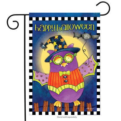 Halloween Owl Primitive Garden Flag Holiday Costume 12.5