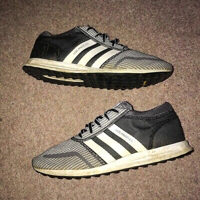Adidas Los Angeles Grey & White Running Trainers Mens Size UK 11