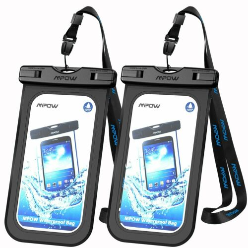 2 pack Mpow Waterproof Underwater Touch Screen Dry Pouch Bag