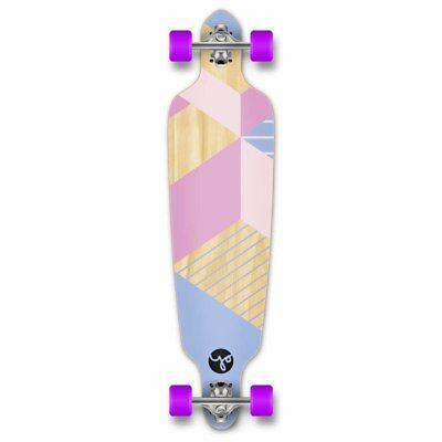 Drop Through Longboard Complete -Geometric Series - Purple
