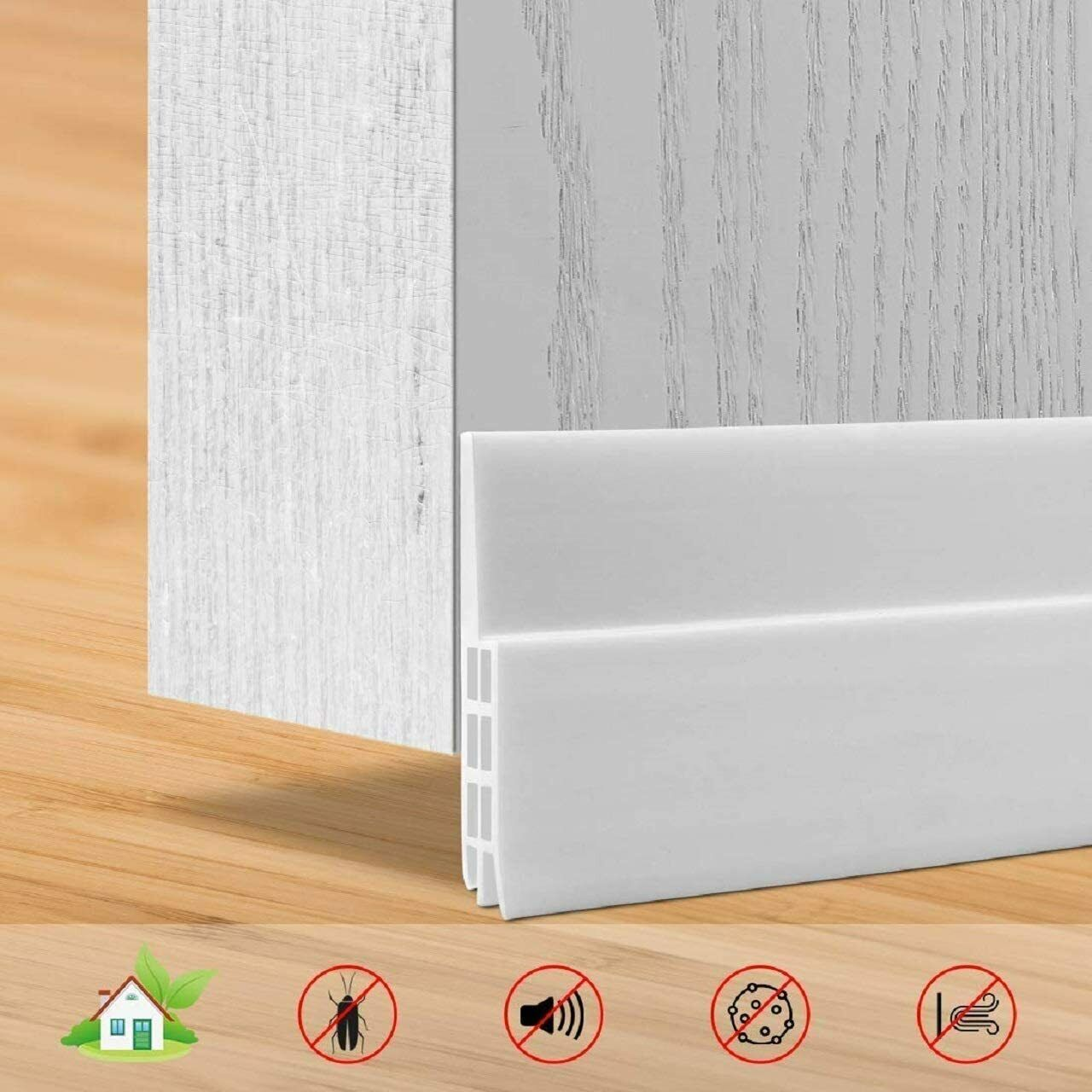 196.9 blanc 5/metres Isolation phonique pour bas portes Windows Autocollant Sticky anticollision ruban d/étanch/éit/é mousse