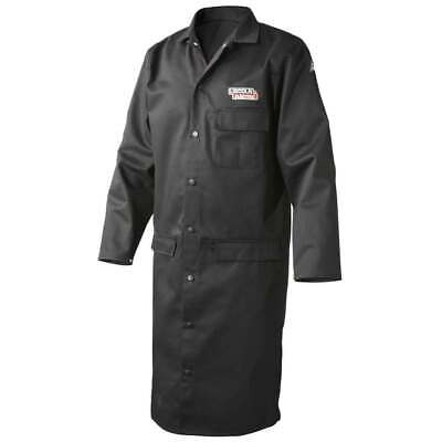 Lincoln Electric K3112 9oz. Fr Black Welding Lab Coat X-large