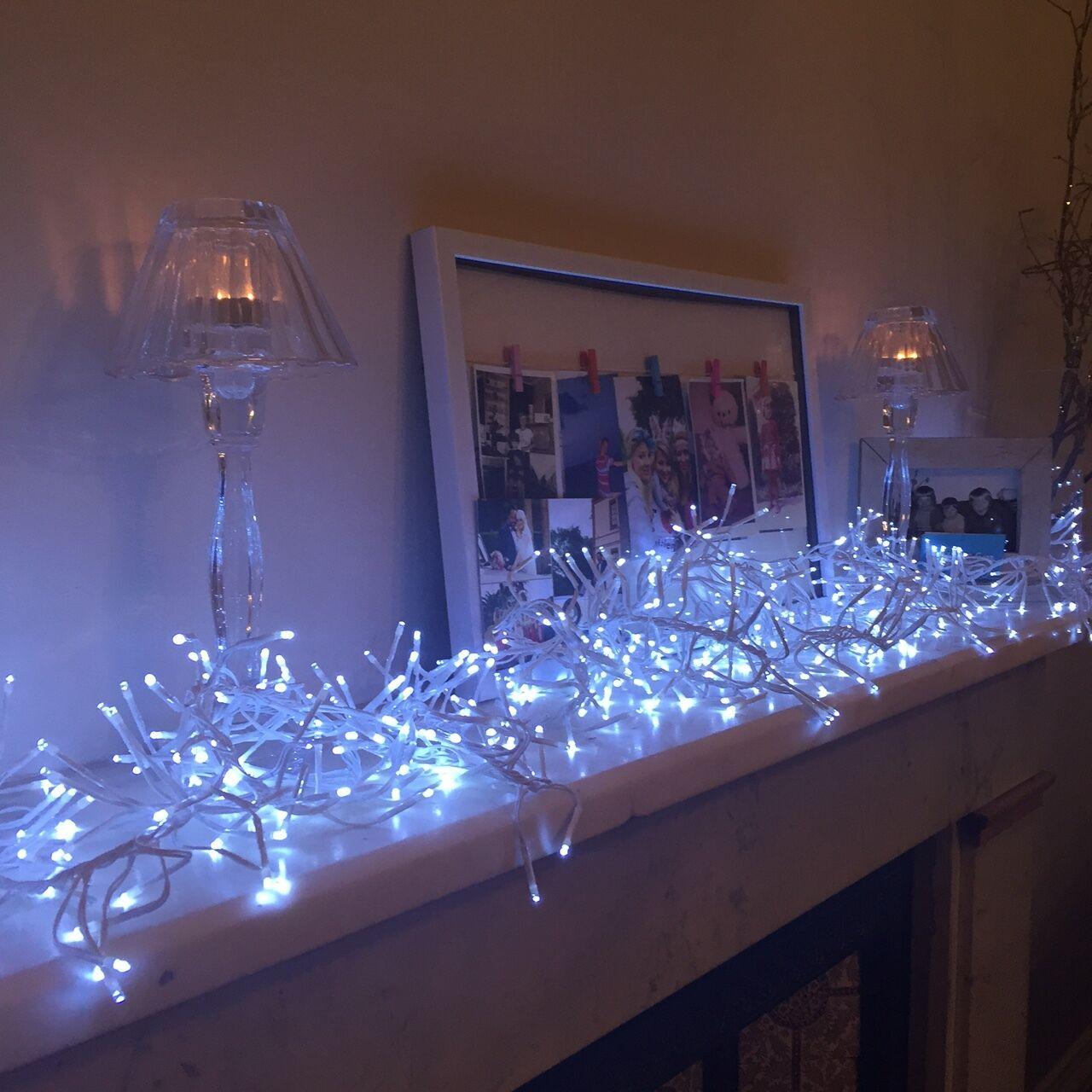 768er led lichterkette cluster weihnachts garten. Black Bedroom Furniture Sets. Home Design Ideas
