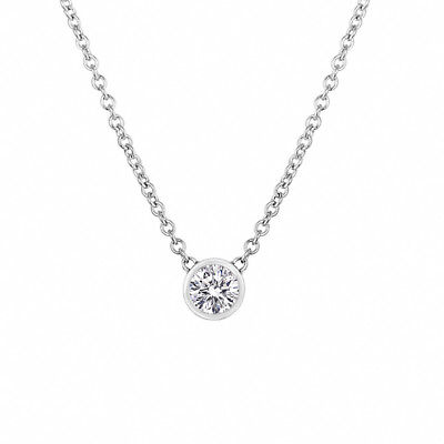 D Color Internally Flawless Diamond Pendant Necklace, Platinum GIA Certified