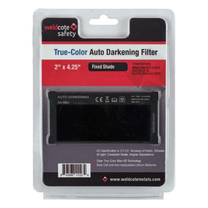 Weldcote True-Color Auto Darkening Filter, Fixed Shade 10, 11122