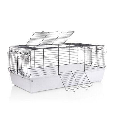 Kaninchenkäfig Hase Meerschwein Kleintierkäfig Stall XXL Weiß