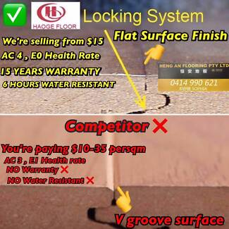 SUPPLY&INSTALL AC4 LAMINATE FLOORING ALL INCLUDED FRM$35 PROMTION