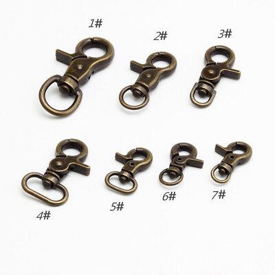 Black Bronze Clasps Lobster Swivel Trigger Clips Snap Hook Bag Clasps 5-500PCS x