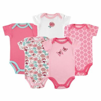 Luvable Friends Girl Bodysuits, 5-Pack, Butterfly