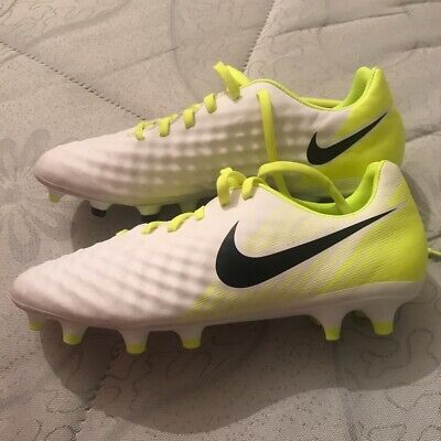 brand new nike magista football boots size 6 white and volt yellow