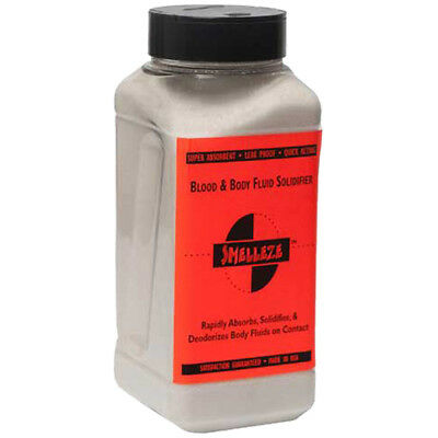 Absorbent Granules - SMELLEZE Blood & Body Fluid Solidifier & Clean Up Absorbent: 2 lb Granules