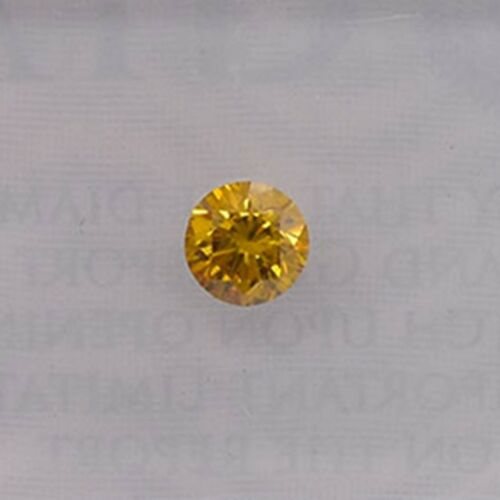 0.16Cts Fancy Deep Orange Yellow Loose Diamond Natural Color Round Cut GIA Cert