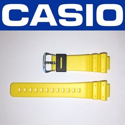 ORIGINAL CASIO 16mm YELLOW G-SHOCK WATCH BAND FOR DW-6900 DW-6600 DW6900 DW6600, used for sale  Shipping to Canada