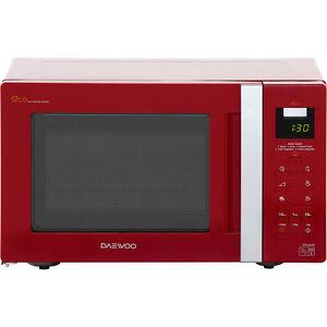 Daewoo KOR6A0RR Free Standing Microwave 20L 800 Watt Red New