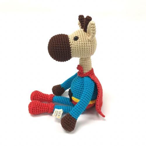 Handmade Crochet SUPERHERO GIRAFFE Doll by MAYOWN: Supporting Philippine Women
