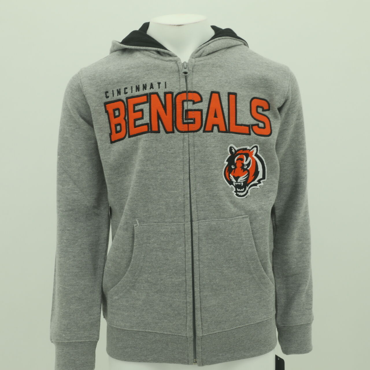 Wholesale NFL Cincinnati Bengals Youth Size Hooded Sweatshirt Full Zipper New  hot sale
