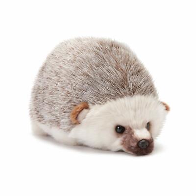 DEMDACO Huddled Small Hedgehog Wispy Chestnut Childrens Plush Stuffed Animal