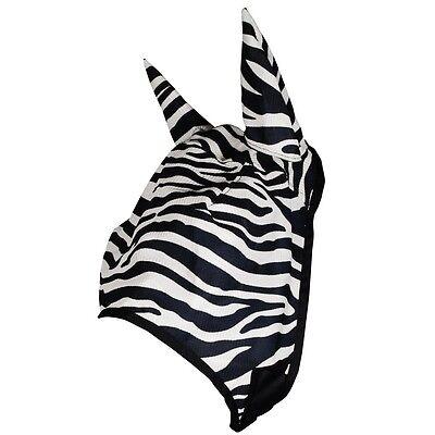 Grand Entry  Zebra Mesh Fly Mask / Full Size Black and White