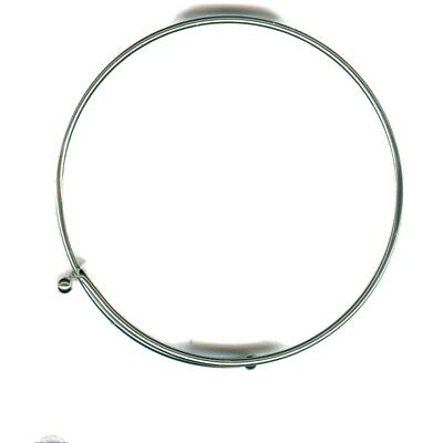 Lot of 25 Sterling Silver EP Expandable Charm Wire Bangle Bracelet Adjustable