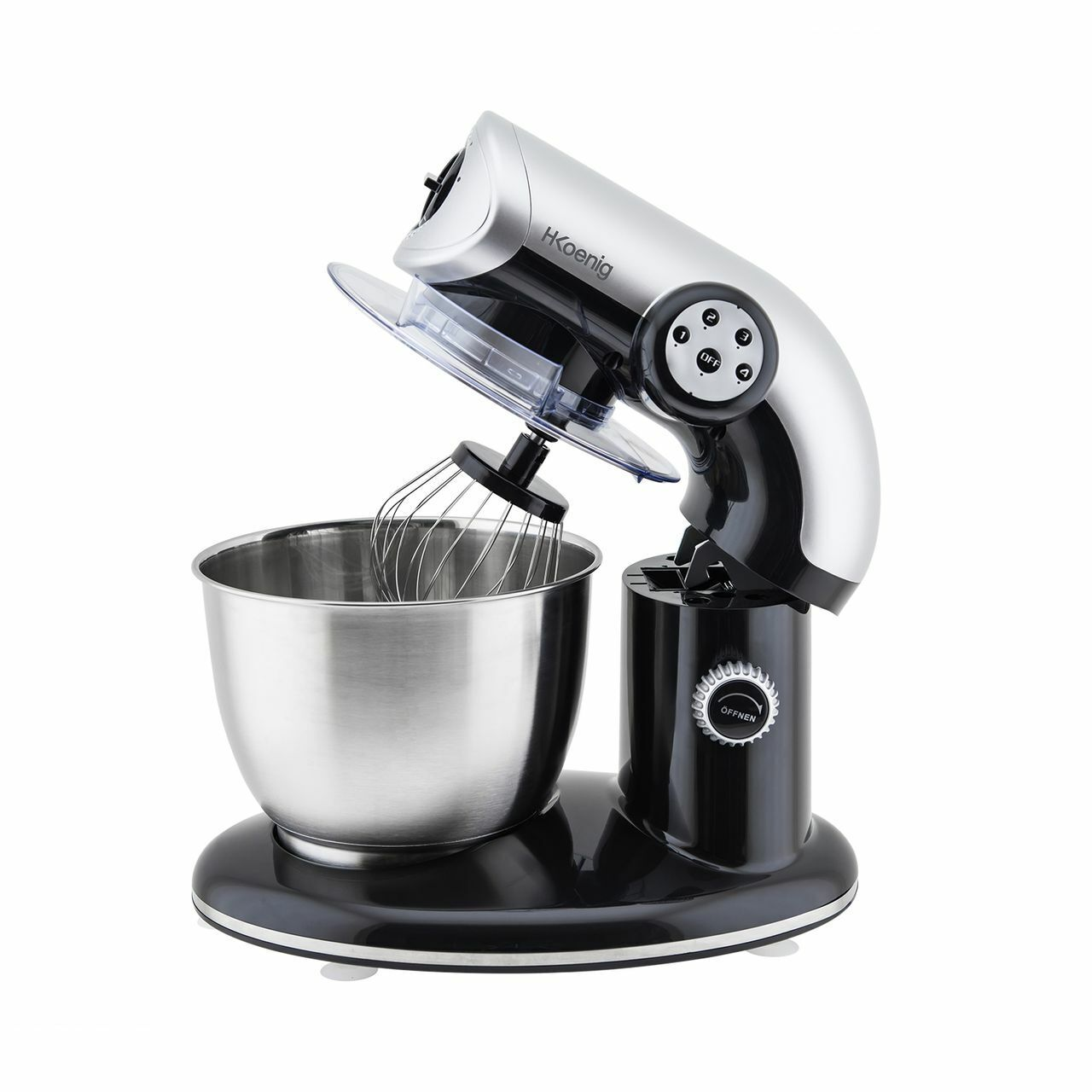 Premium Robot da Cucina Einarm Supporto Mixer 1000Watt Nero HKoenig KM80s