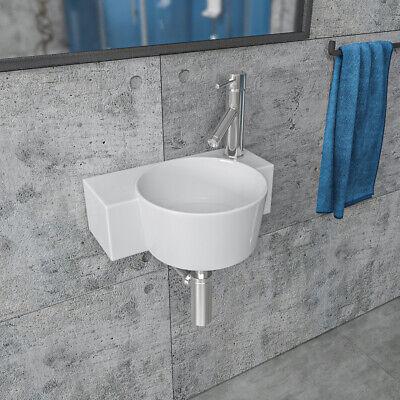 Keramik Handwaschbecken Waschbecken für Gäste WC klein weiß 38x29x12cm KBW263