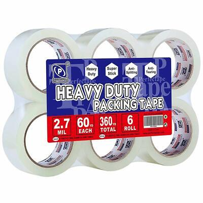 PERFECTAPE Heavy Duty Packing Tape 6 Rolls, Total 360Y, Clear, 2.7 mil, 1.88 inc