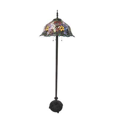 - Tiffany-style 3 Bulb Roses Floor Lamp 20