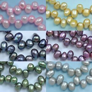 6-7-mm-Rice-Teardrop-Head-drilled-Top-drilled-Freshwater-Pearls-Beads