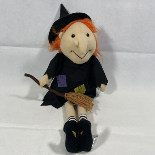 Beverly Hills Teddy Bear HALLOWEEN WITCH w/ BROOMSTICK Stuffed Plush SOFT TOY