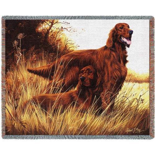 Throw Tapestry Afghan - Irish Setters 1140