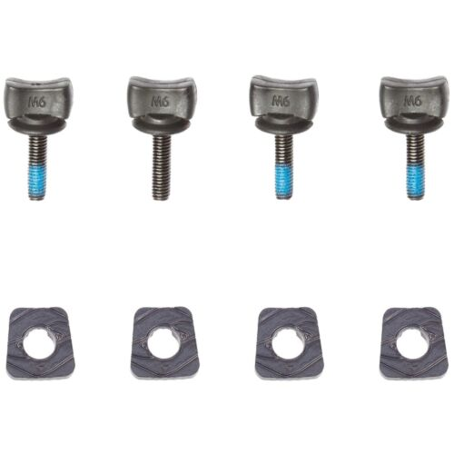 HYPERLITE M6 Thumb Screw Wakeboard Bindings Hardware Kit - 4 Screws & 4 Clamps