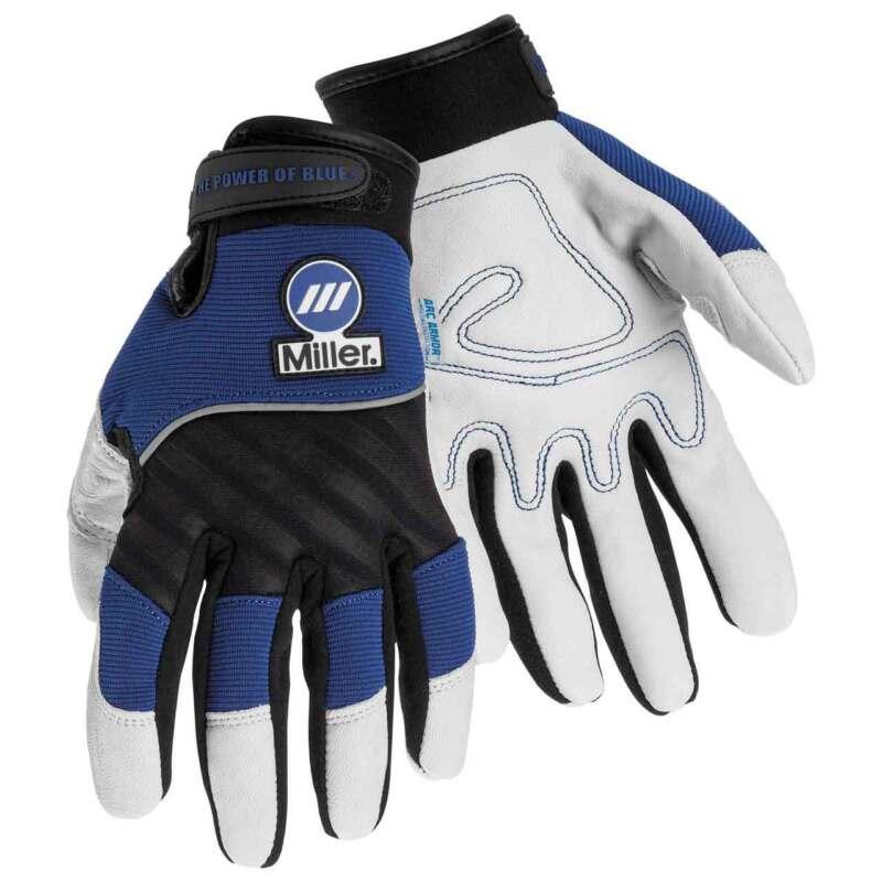 Miller 251066 Leather/Spandex Metalworker Gloves Medium