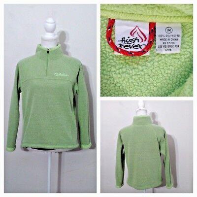 Cabela's Fleece Top Damen M Green 1/4 Zip W / Taschen Hochwertig Inv #S8218 Cabelas Damen Fleece