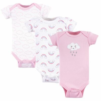 Luvable Friends Girl Preemie Bodysuits, 3-Pack, Girl Cloud