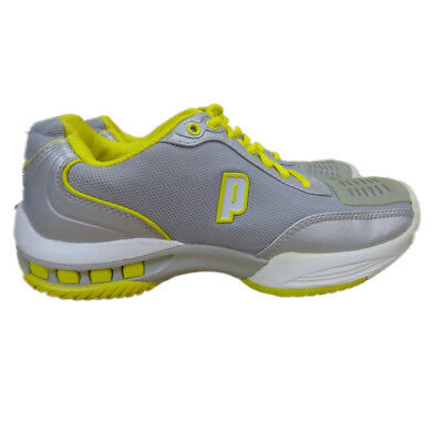 d0c97f94f31b2 PRINCE Rebel 2 all Court Tennis Shoe silver yellow Women s EU 39.5 US 8.0