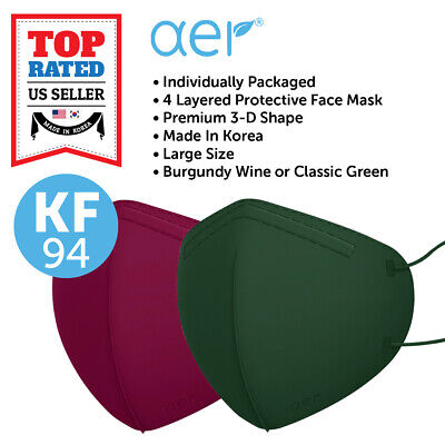 Aer Kf94 Face Protective Safety Mask Made In Korea 4 Layers Adult Large Size