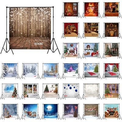 28Style XMAS Tree Snow Wood 10X10FT Vinyl Photography Background Studio Backdrop