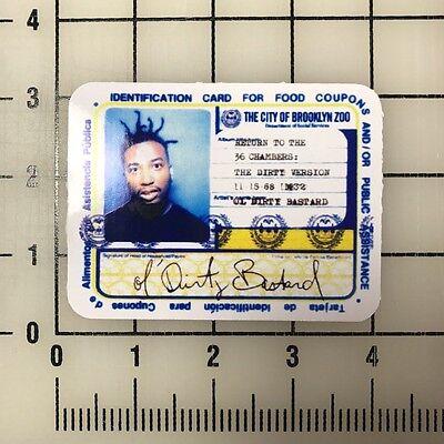 "Wu Tang ODB Old Dirty Bastard 4"" Wide Vinyl Decal Sticker BOGO"