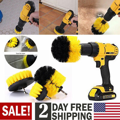 3PCS drill brush for Car Carpet wall and Tile cleaning MEDIUM DUTY(YELLOW) USA