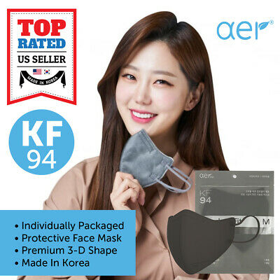 Aer Kf94 Gray Face Protective Safety Mask Kfda Approved Made In Korea Sml