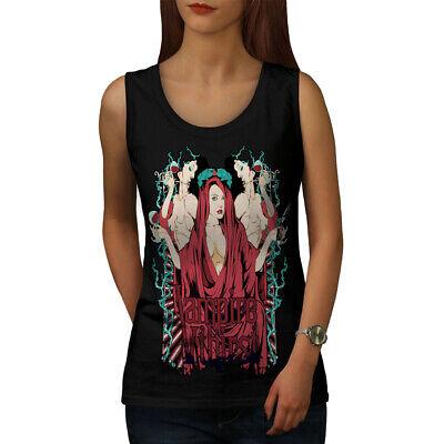 Wellcoda Vampire Thirst Hot Sexy Womens Tank Top, Goth Athletic Sports Shirt - Hot Vampire Woman