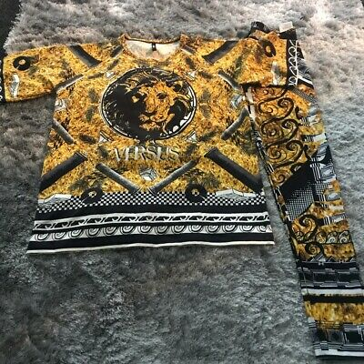 VERSUS VERSACE LADIES T-SHIRT & LEGGINGS IN EXCELLENT CONDITION SIZE SMALL