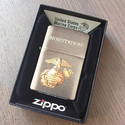 Custom  Engraved Zippo 280mar US Marine Emblem Personalized