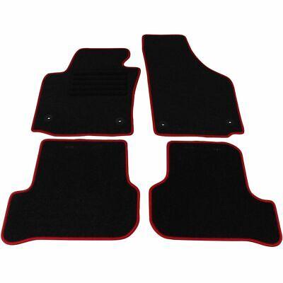Veloursmatten Textilmatten Fußmatten Satz RED 4-tlg für SEAT LEON 1P1