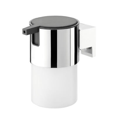 Soap Dispenser Tiger Bold Frosted Glass And Chrome Metal