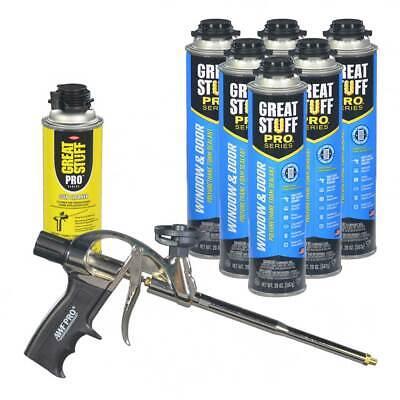 Great Stuff Pro Window And Door Gun Foam 6 Cans Foam Gun Cleaner